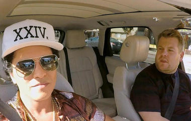 "Watch Bruno Mars do ""Carpool Karaoke"""
