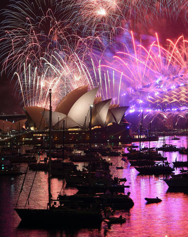 Happy New Year! The world rings in 2017