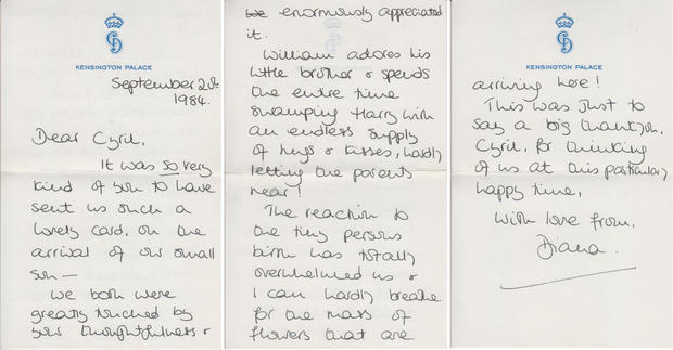 Princess Diana's letter shares a problem with