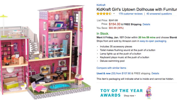 6 year old brooke neitzel orders expensive dollhouse for Kitchen set for 8 year old