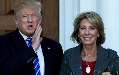 Unions slam Trump's pick for Secretary of Education