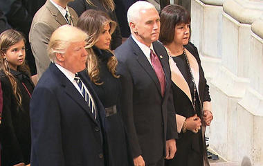 President Trump, family attend National Prayer Service