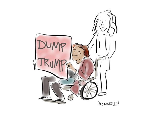 Illustrated take on the Women's March