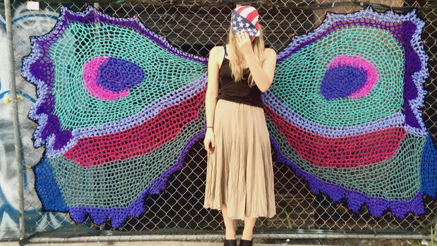 How Yarn Bomber London Kaye Is Redefining Street Art Cbs