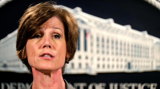 Deputy Attorney General Sally Yates speaks during a news conference at the Justice Department in Washington June 28, 2016.