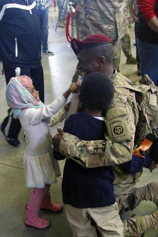 Heartwarming military reunions