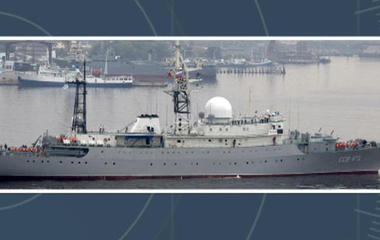 Russian spy ship spotted off East Coast