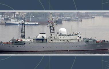 Russian spy ship spotted off East Coast