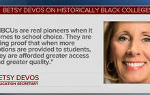 Betsy DeVos criticized for school choice comment