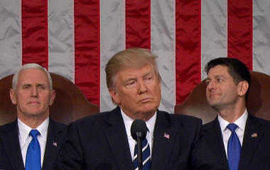 Watch full video: President Trump sounds familiar campaign themes in first speech to Congress
