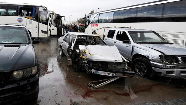 Two blasts in Damascus leave 40 killed, 120 injured