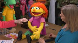 """New """"Sesame Street"""" Muppet Julia brings viewers to tears"""