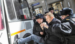 Russian protesters jailed after anti-corruption demonstrations