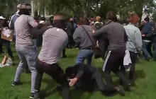 Video of woman getting punched at protest sparks outrage