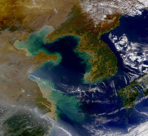 Dark And Light North Korea Hermit Country Seen From