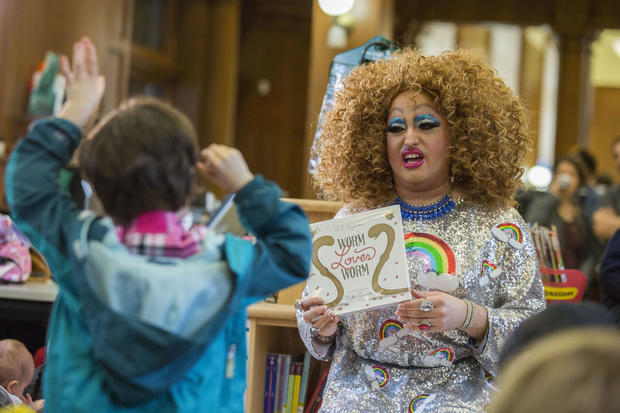 Drag Queen Story Hour at NYC library