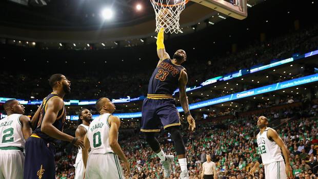 James, Cavaliers finish off Celtics