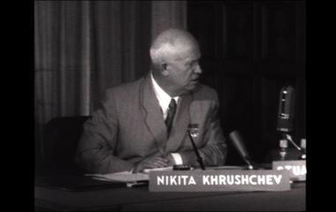 Nikita Khrushchev on Face the Nation in 1957