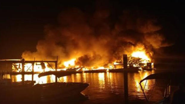 Massive marina fires forces closure of US 1 in Florida Keys
