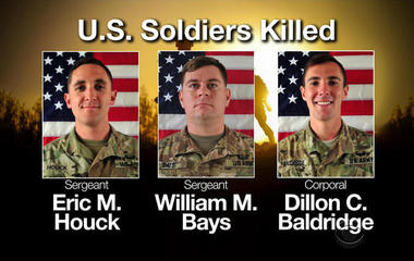 Pentagon releases pictures of 3 U.S. soldiers killed in Afghanistan