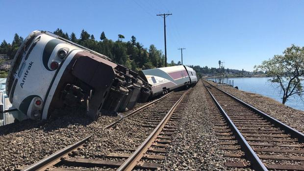 Amtrak train derails near Chambers Bay golf course in Washington