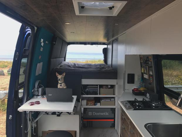 5 van homes that take glamping on the road cbs news. Black Bedroom Furniture Sets. Home Design Ideas