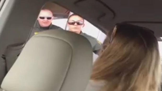 Video of teacher's confrontation with Border Patrol agent goes viral