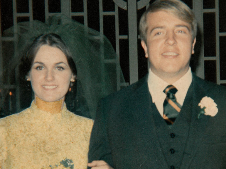 Raynella and Ed Dossett on their wedding day