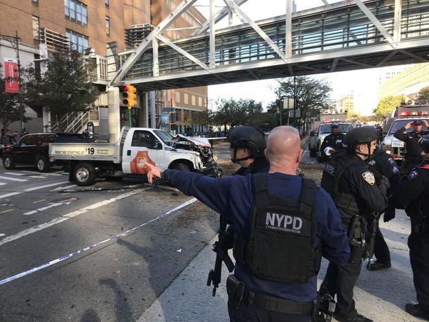Truck plows into pedestrians in NYC attack