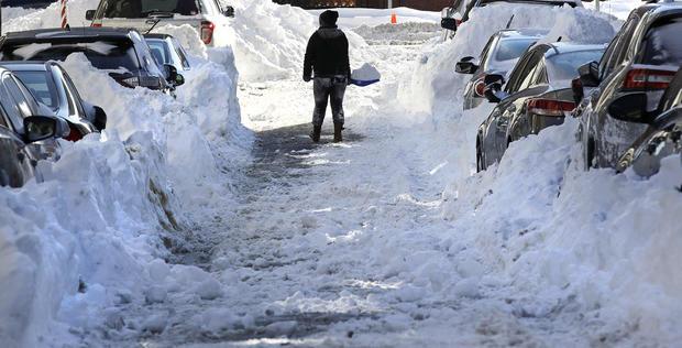 """Bomb cyclone"": Mammoth winter storm hits Northeast"