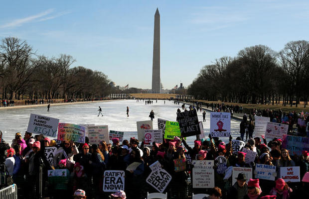 2nd annual Women's Marches held across U.S.