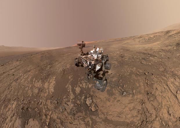 太空火星漫游者自拍