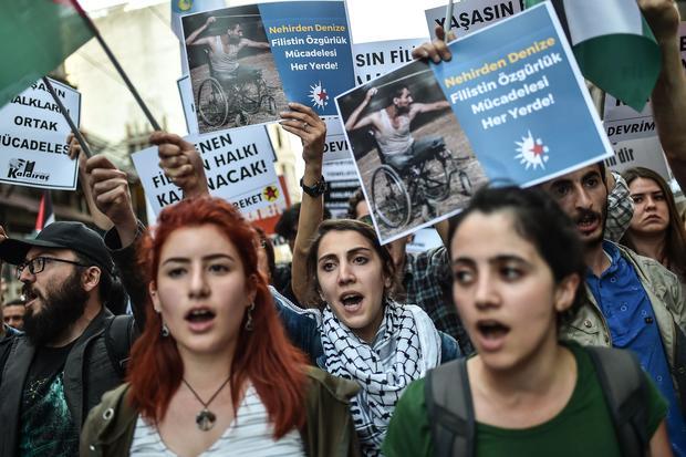 TURKEY-US-ISRAEL-PALESTINIANS-CONFLICT-DEMO