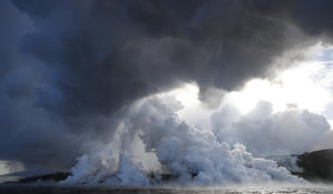 Lava from Hawaii volcano creates toxic stew in Pacific