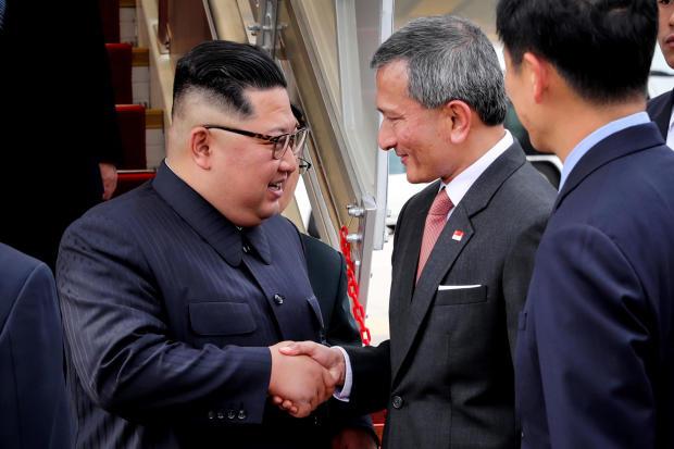 朝鲜领导人金正恩在美朝首脑会议前抵达新加坡