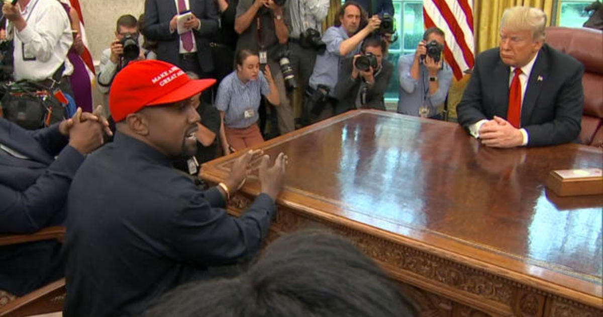 Cbsn Fusion Kanye West Visits Trump In Oval Office At The White House Thumbnail Trumps Economic Boasts Fail To Resonate Some