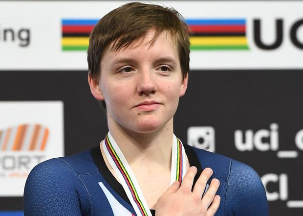 CYCLING-NED-UCI-WORLD-TRACK-妇女寻踪 -  PODIUM