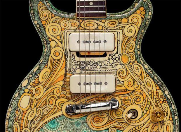 史蒂夫 - 米勒,1961年 - 吉布森莱保罗 - 特殊电吉他涂逐鲍勃 - 坎特雷尔-照片礼貌,史蒂夫 - 米勒 -  660.jpg