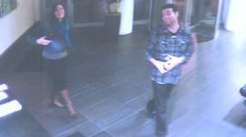 Kelly Dwyer and Kris Zocco on security camera