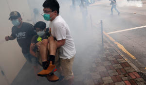 Protesters clash with Hong Kong police over Beijing's planned security law