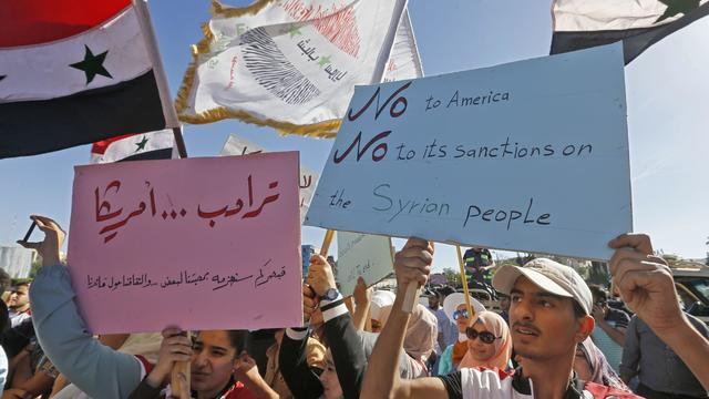 SYRIA-POLITICS-ECONOMY-DEMO