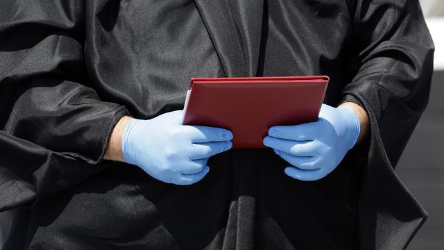 Virus Outbreak North Carolina Graduation