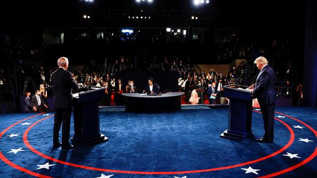President Trump and Democratic presidential nominee Biden participate in their second debate in Nashville