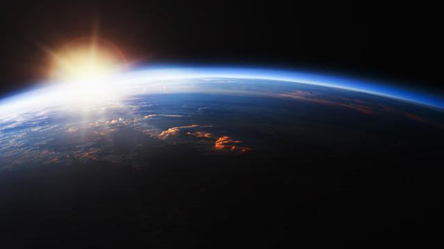 Sunrise over Planet Earth