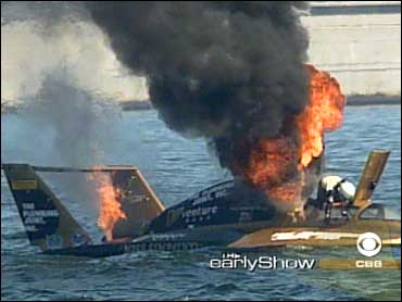 Fiery Hydroplane Crash Caught On Tape - CBS News