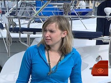 Girl teen on sailboat