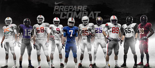 cheap for discount bf876 32a83 Nike Pro Combat Uniforms: 10 College Teams Get Fashion ...