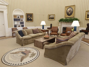 White House Backs King Quote On Oval Office Rug