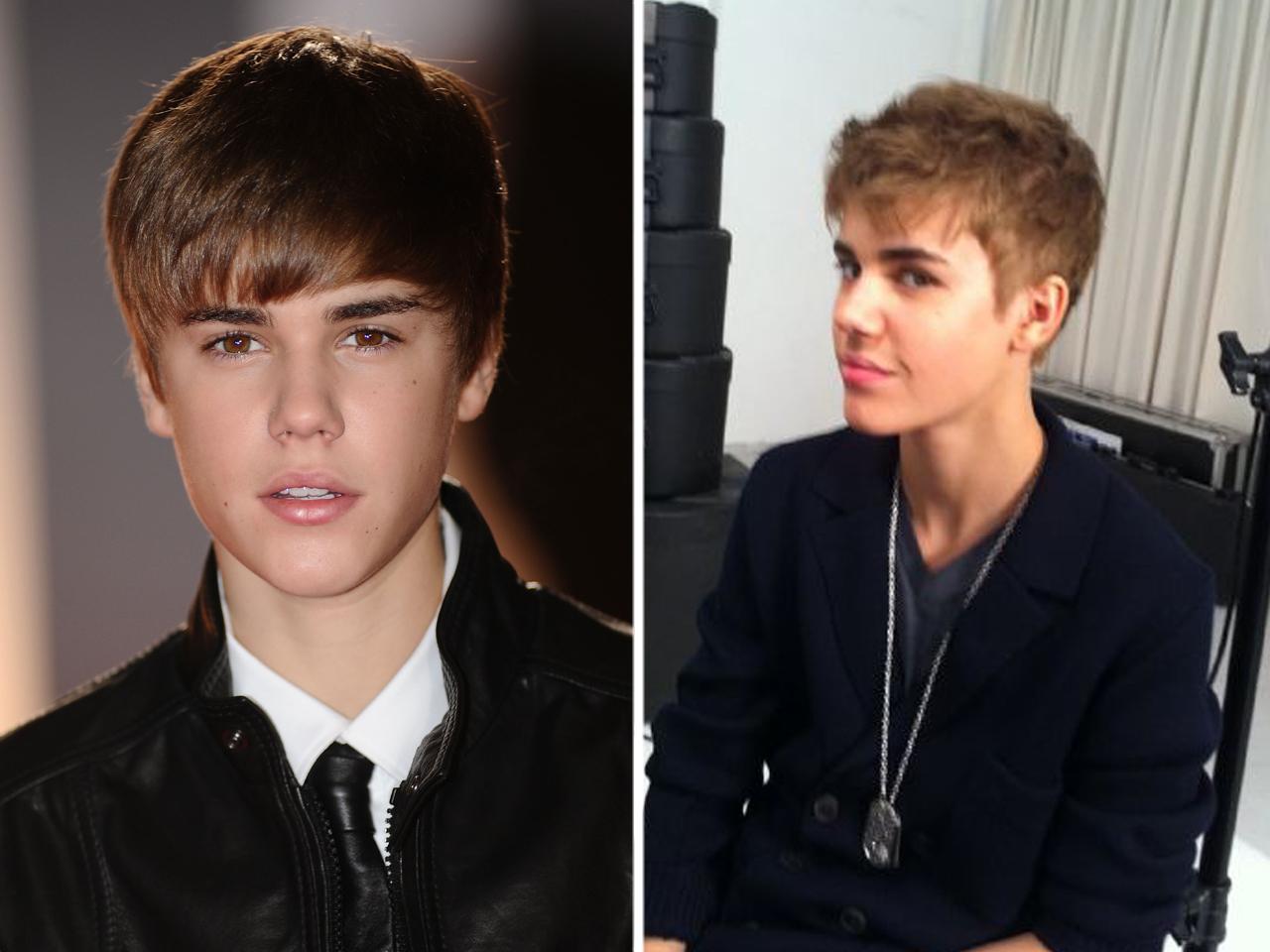 Justin Bieber cuts his hair - CBS News