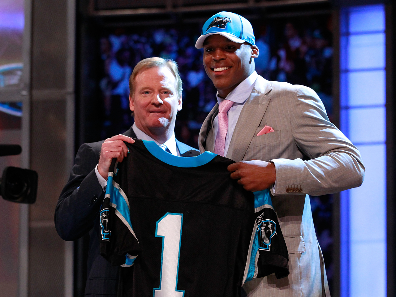 Image result for newton nfl draft
